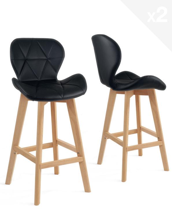 lot-2-chaises-hautes-scandinave-noir-kayelles