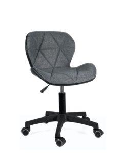 chaise-bureau-design-lina-tissu-gris-pu-noir