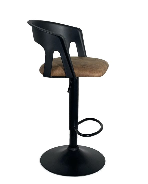 chaise-haute-Bar-cuisine-dossier-Lot-2-accoudoirs-noir--marron