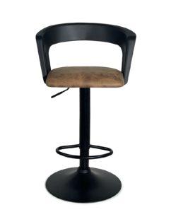 chaise-haute-Bar-cuisine-dossier--Lot-2-reglable-accoudoirs-noir-integral