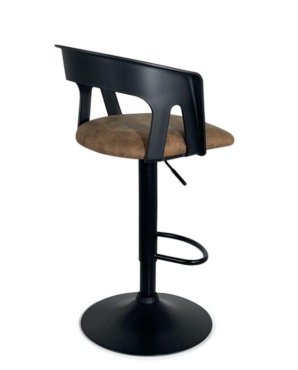chaise-haute-Bar-cuisine-dossier-ergonomique-accoudoirs-Lot-2-marron-noir