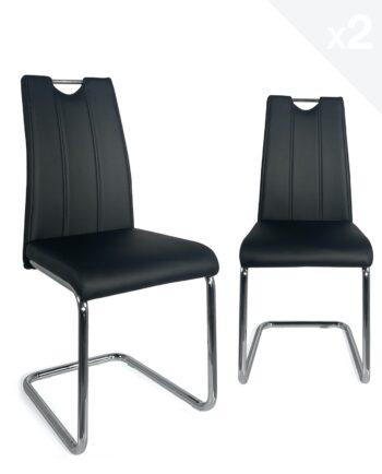 chaises-salon-salle-manger-poignees-design-noir-abla-kayelles
