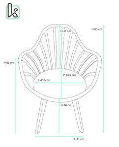 chaise-barreaux-accoudoirs-scandinave-tailles