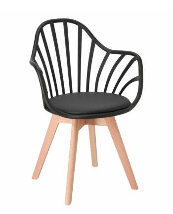 chaise-barreaux-accoudoirs-style-scandinave-noir-bold