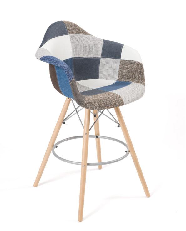 chaise-haute-patchwork-bleu-bar-cuisine-tiba