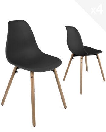 lot-4-chaises-cuisine-design-scandinave-noir-kayelles